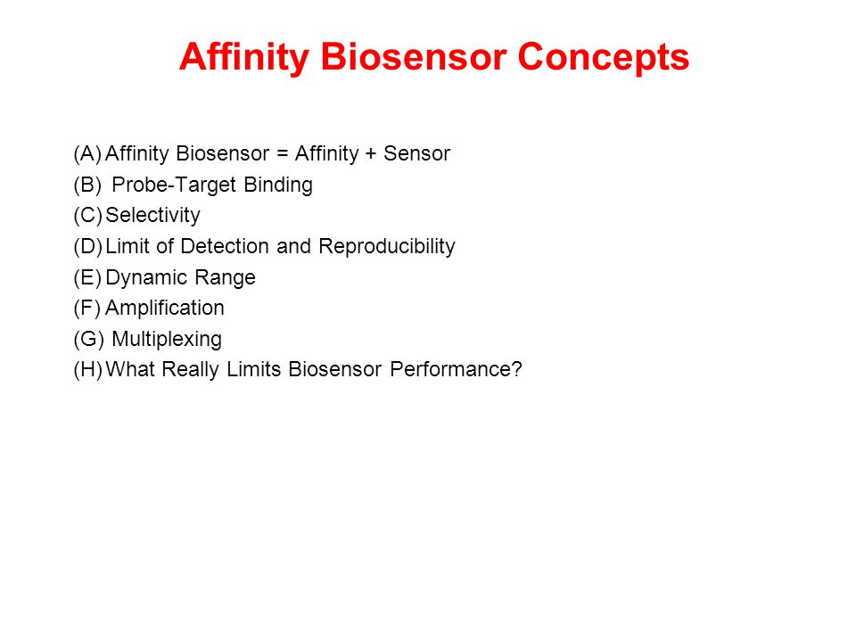 Affinity Biosensor Concepts