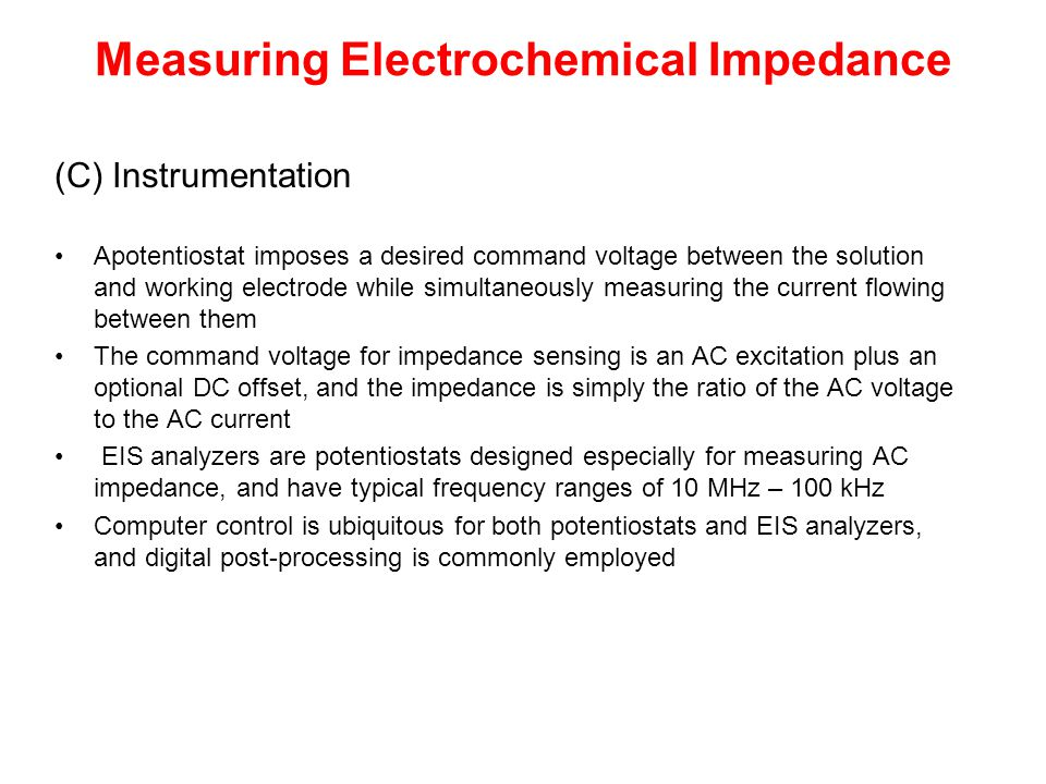 Measuring Electrochemical Impedance