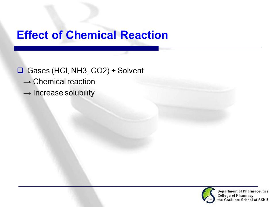 Effect of Chemical Reaction
