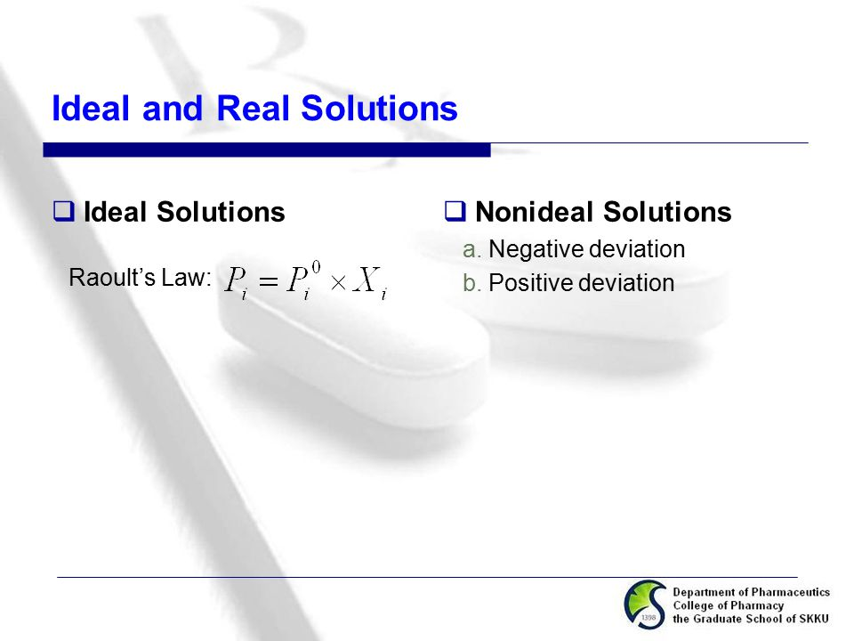 Ideal and Real Solutions