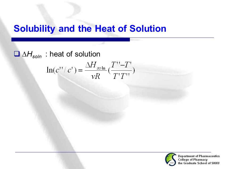 Solubility and the Heat of Solution