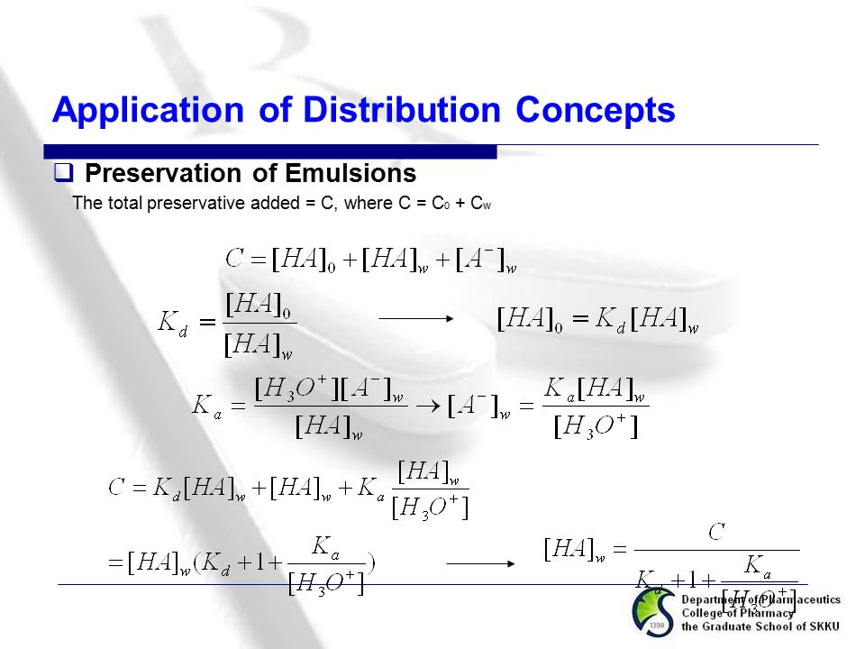 Application of Distribution Concepts