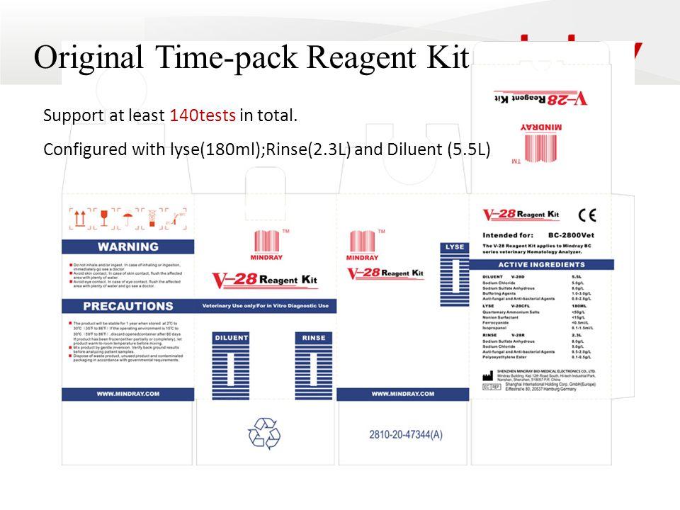 Original Time-pack Reagent Kit