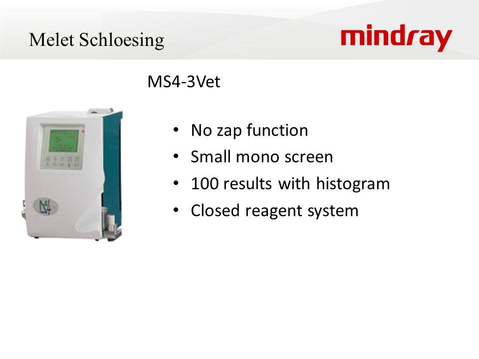 Melet Schloesing MS4-3Vet No zap function Small mono screen