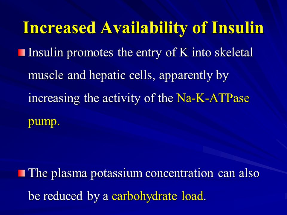 Increased Availability of Insulin