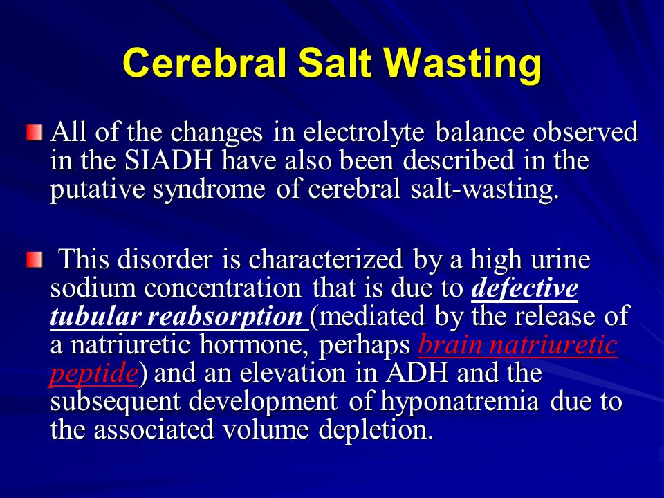 Cerebral Salt Wasting