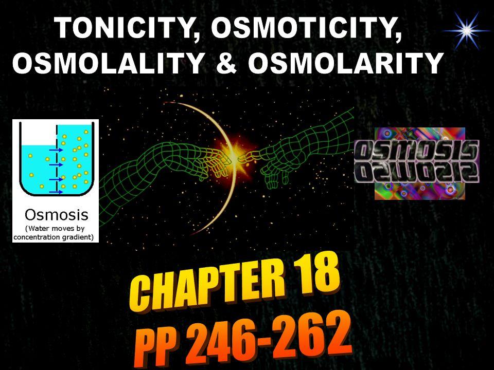 OSMOLALITY & OSMOLARITY