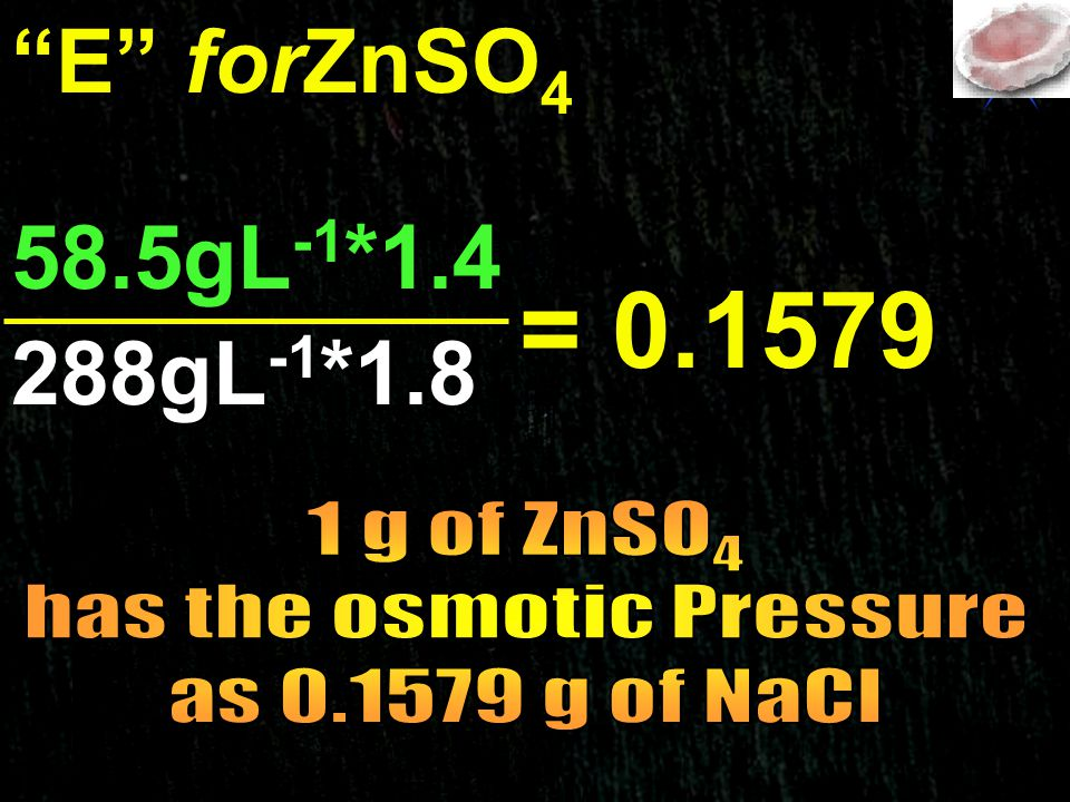 has the osmotic Pressure