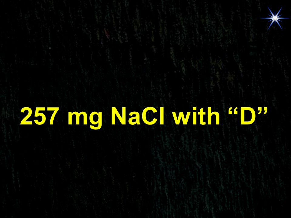 256.8 mg NaCl with E 257 mg NaCl with D