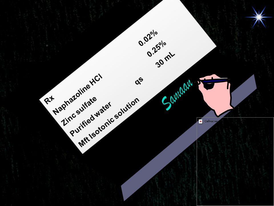 Samaan Naphazoline HCl 0.02% Zinc sulfate 0.25%