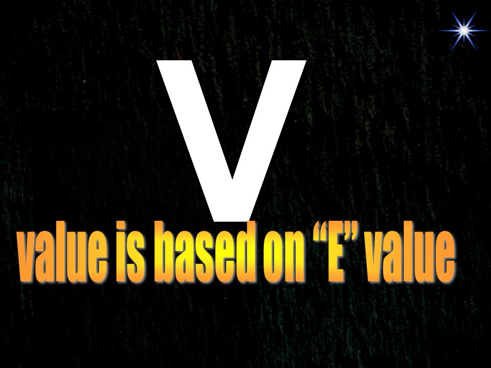 value is based on E value