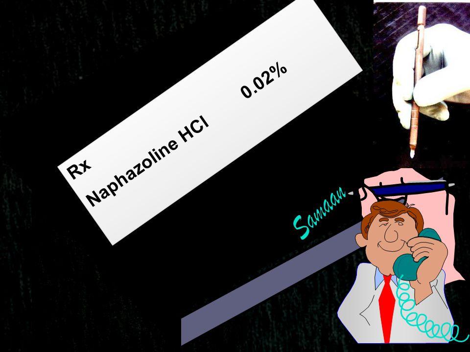 Naphazoline HCl 0.02% Rx Samaan