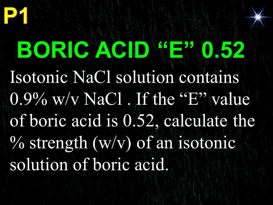 P1 BORIC ACID E 0.52.