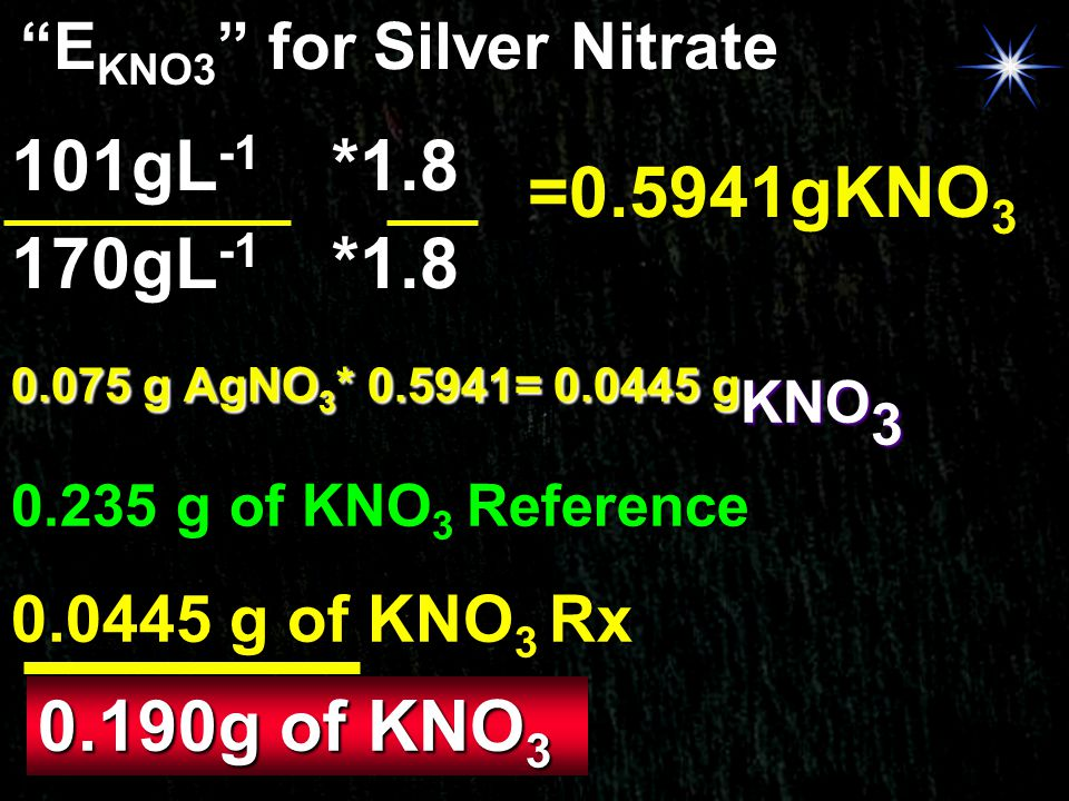 EKNO3 for Silver Nitrate