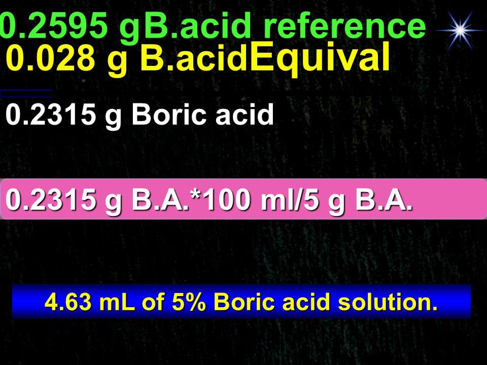 4.63 mL of 5% Boric acid solution.