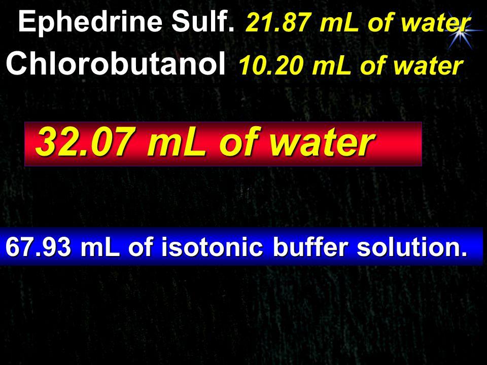 Ephedrine Sulf. 21.87 mL of water