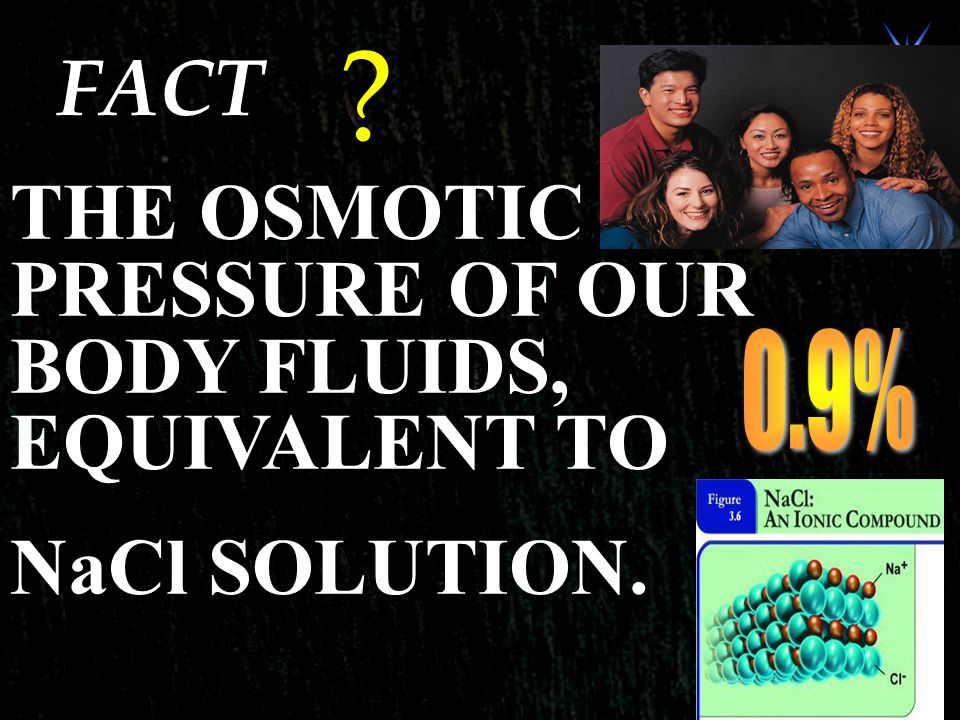 FACT THE OSMOTIC PRESSURE OF OUR BODY FLUIDS, EQUIVALENT TO