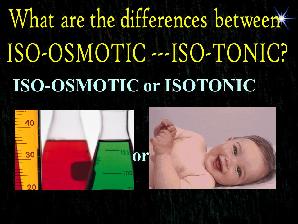 ISO-OSMOTIC or ISOTONIC