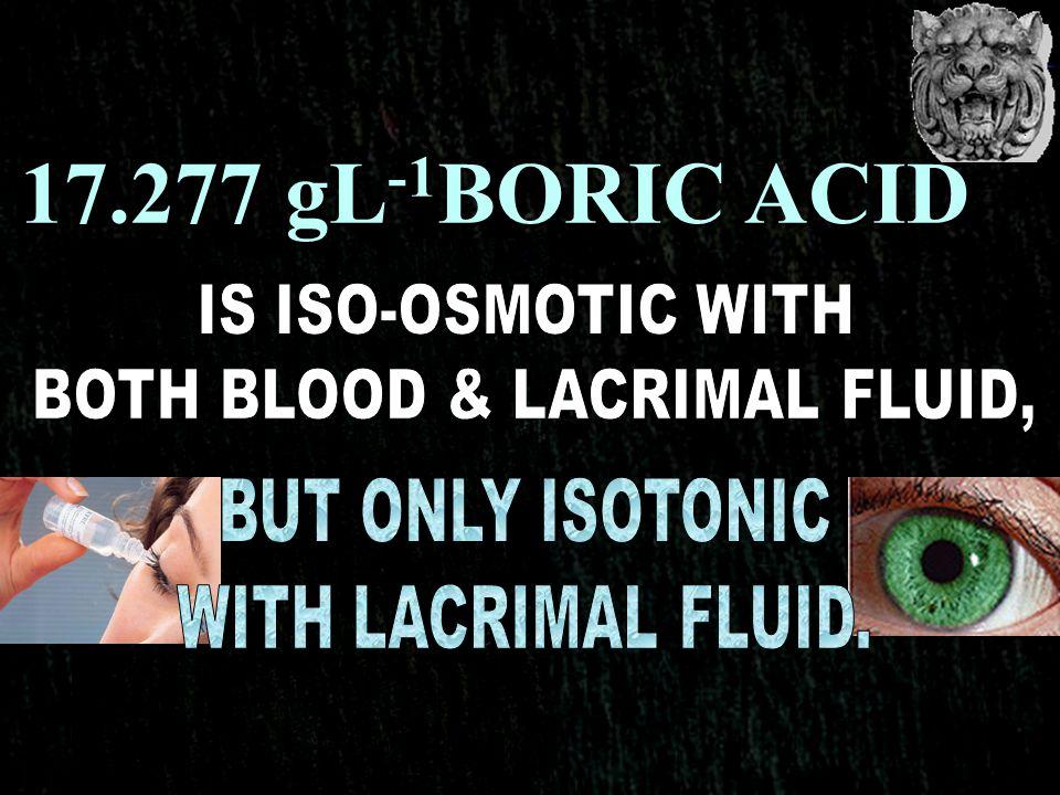 BOTH BLOOD & LACRIMAL FLUID,