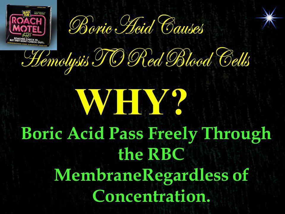 Hemolysis TO Red Blood Cells