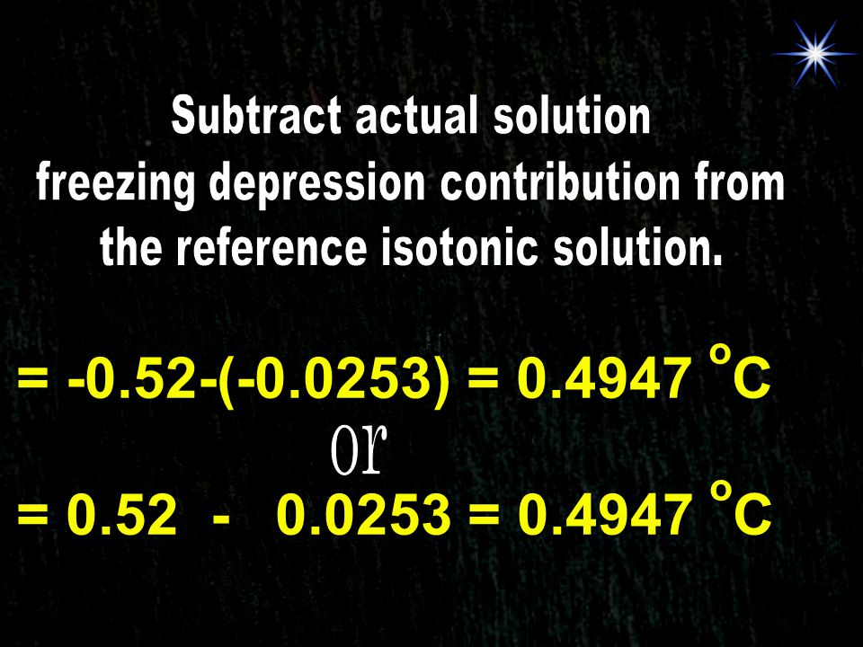 Subtract actual solution