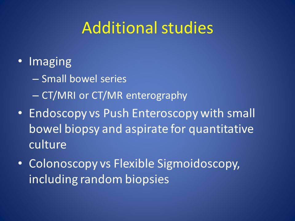 Additional studies Imaging