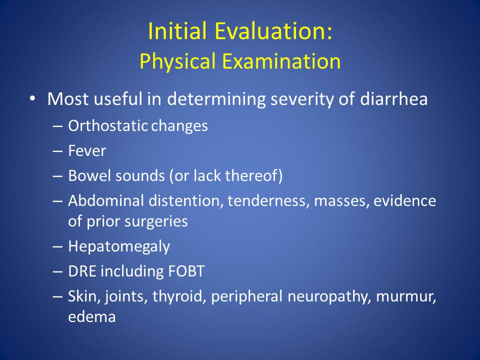 Initial Evaluation: Physical Examination