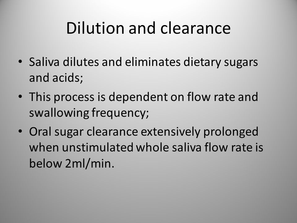 Dilution and clearance