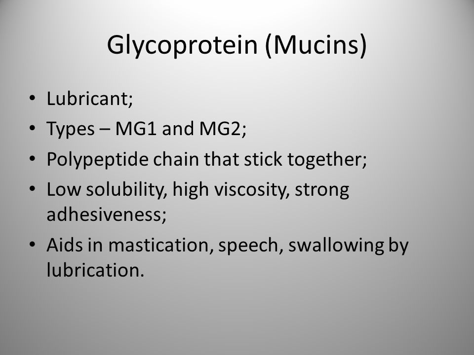 Glycoprotein (Mucins)