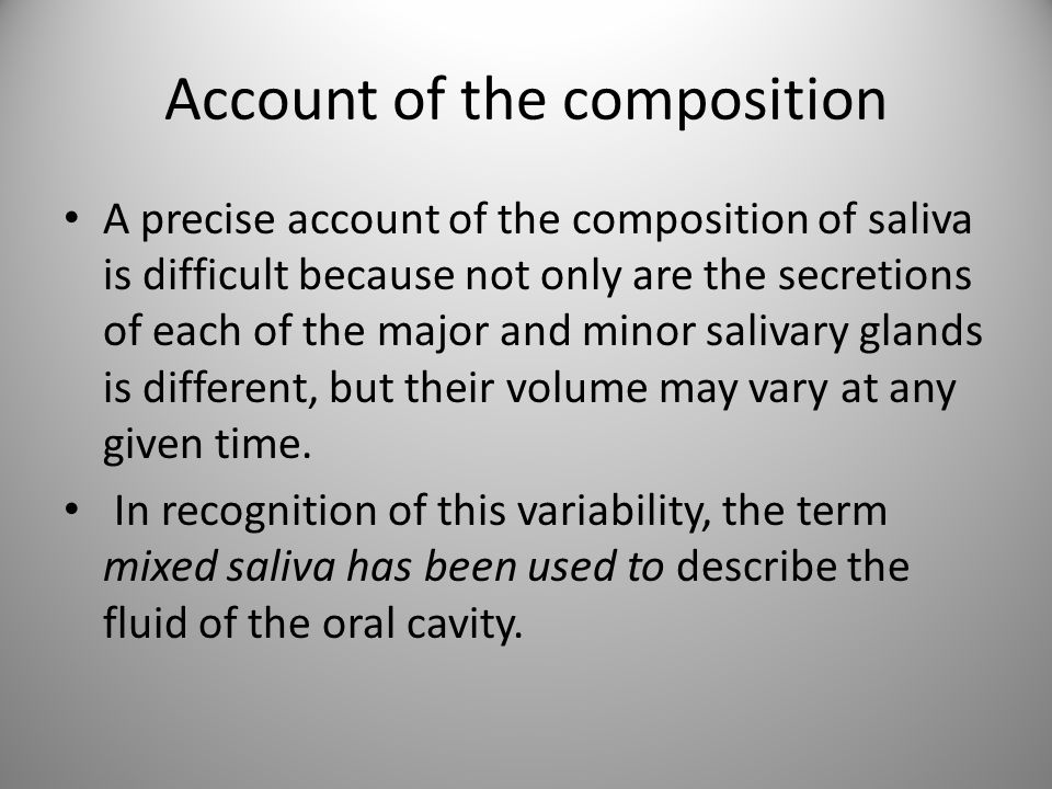 Account of the composition