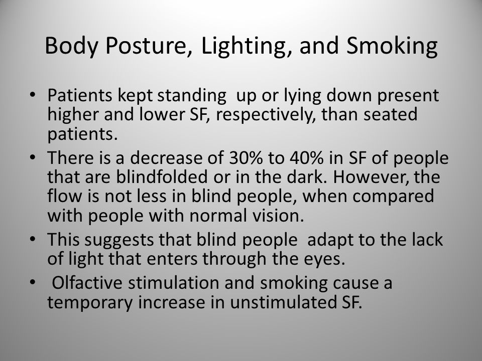 Body Posture, Lighting, and Smoking