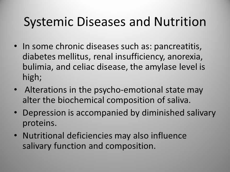 Systemic Diseases and Nutrition