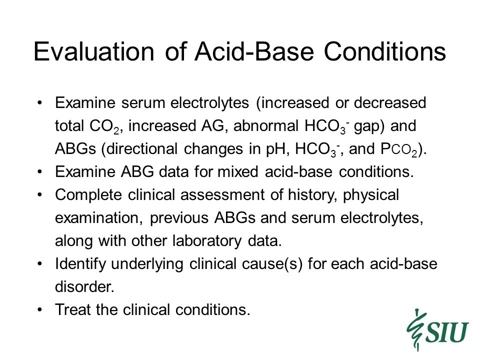 Evaluation of Acid-Base Conditions