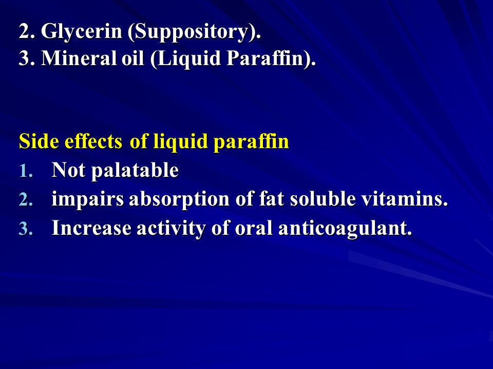 2. Glycerin (Suppository).