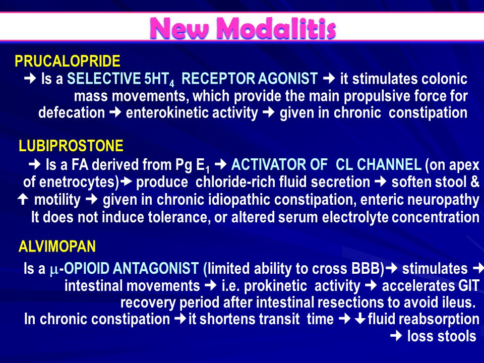 New Modalitis PRUCALOPRIDE
