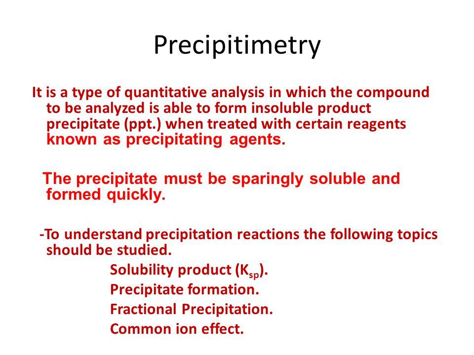 Precipitimetry