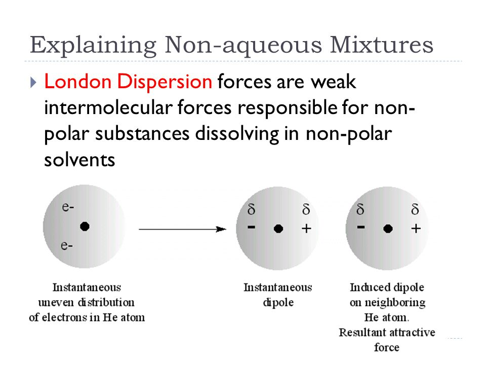 Explaining Non-aqueous Mixtures