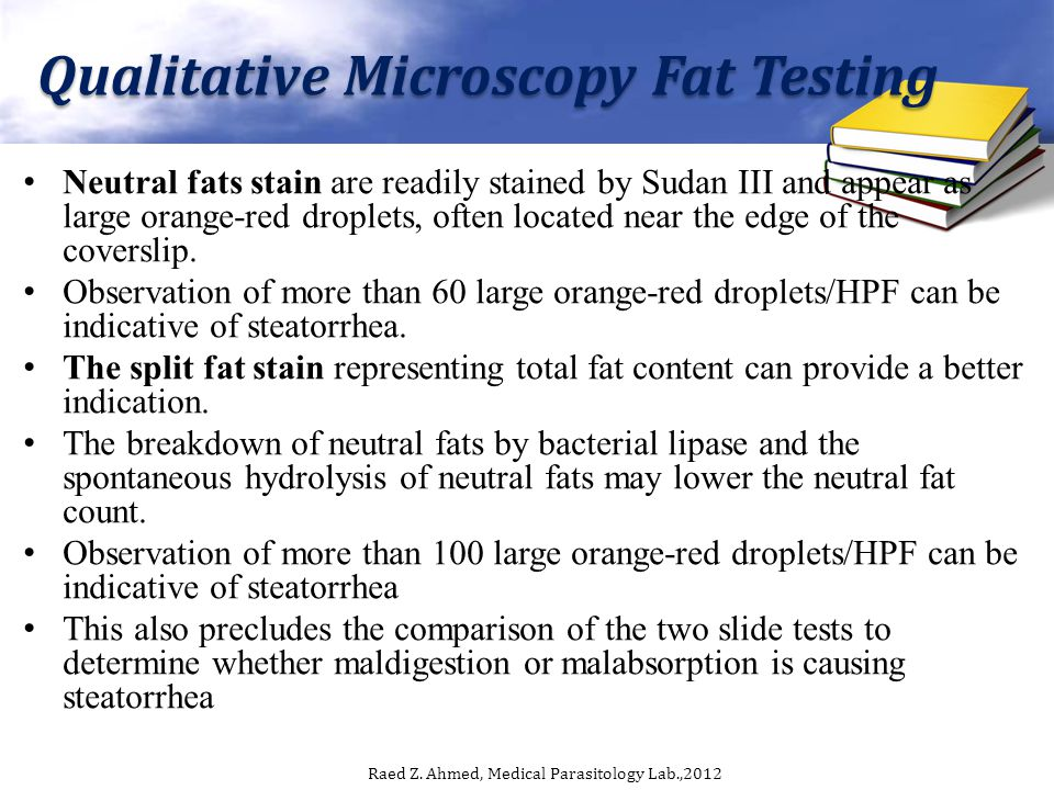 Qualitative Microscopy Fat Testing
