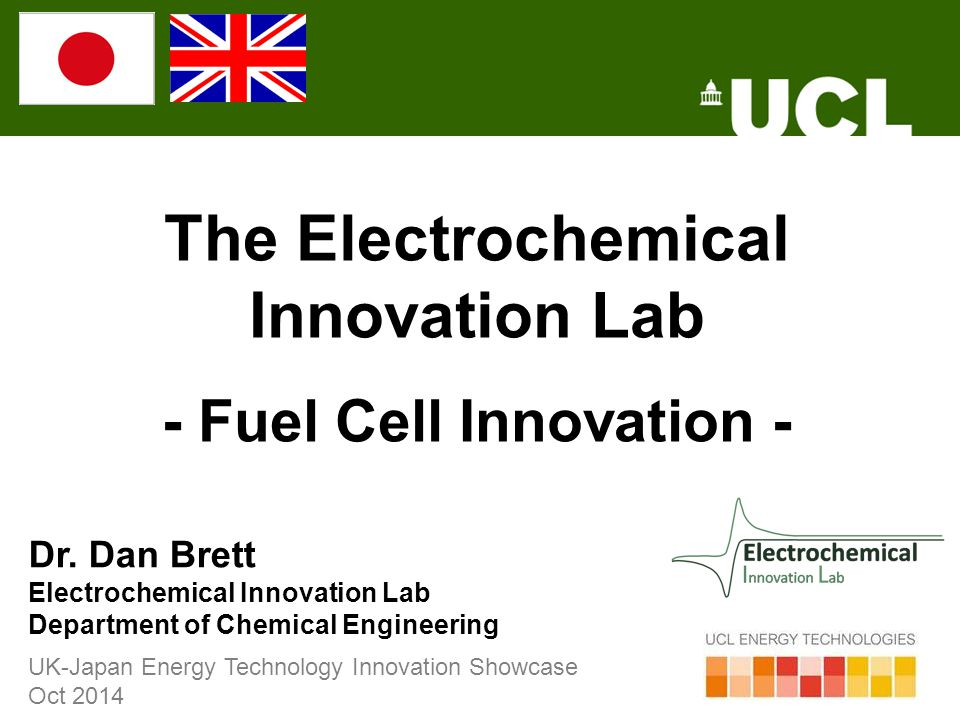 The Electrochemical Innovation Lab - Fuel Cell Innovation -