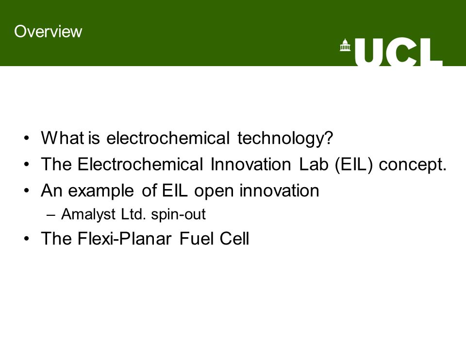 What is electrochemical technology