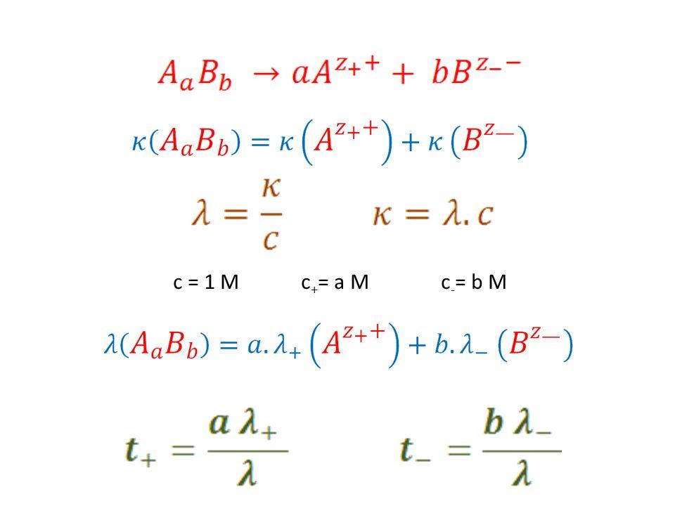 c = 1 M c+= a M c-= b M