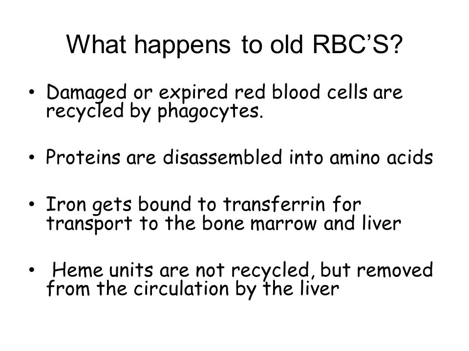 What happens to old RBC'S