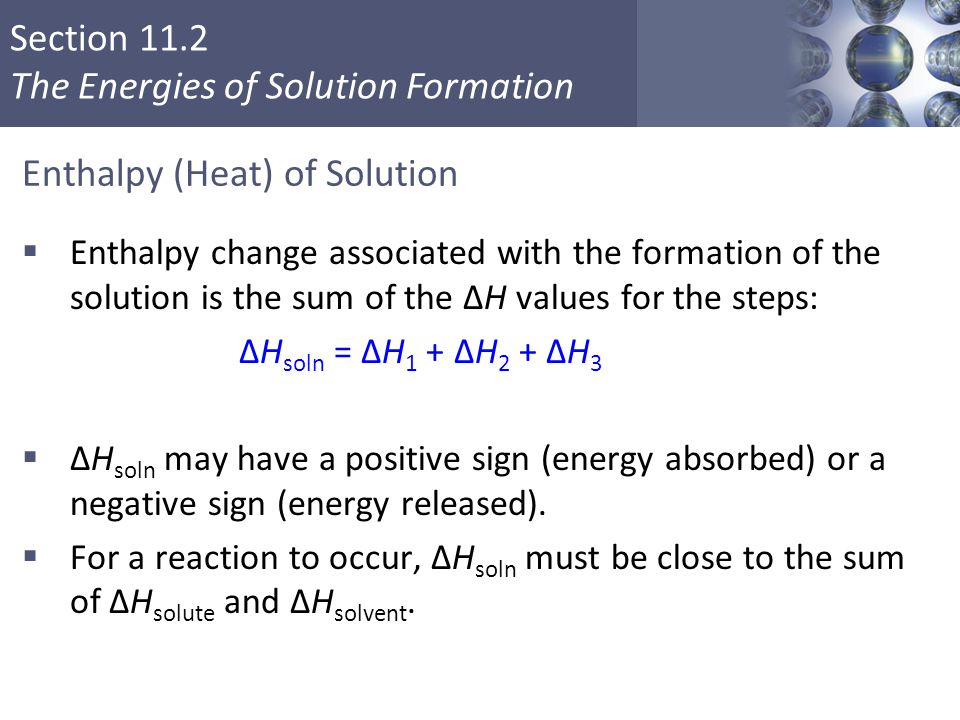 Enthalpy (Heat) of Solution