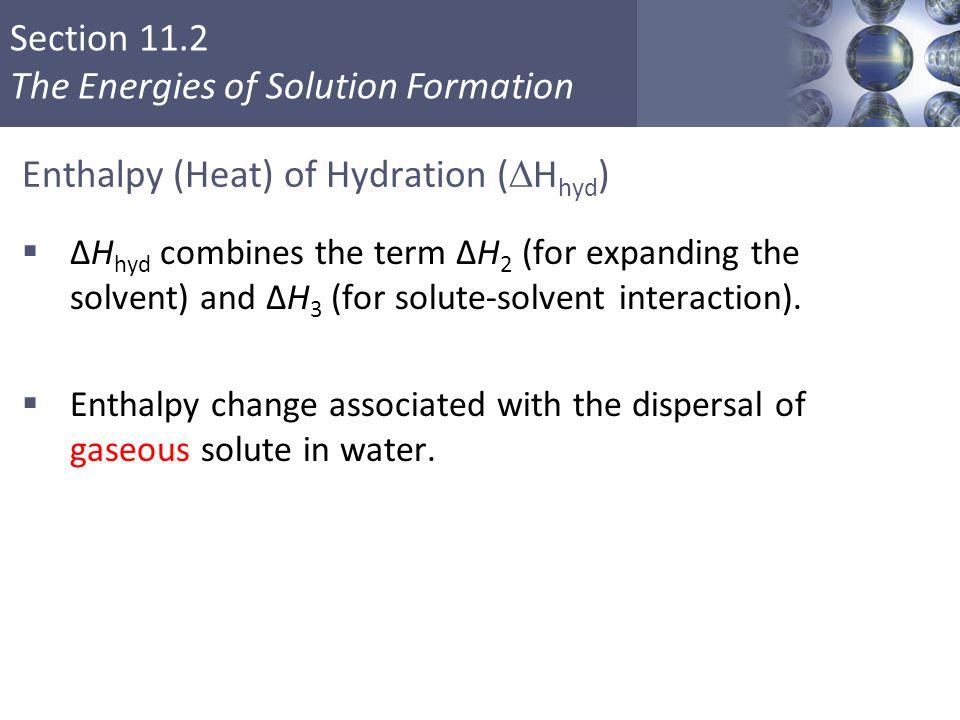 Enthalpy (Heat) of Hydration (Hhyd)