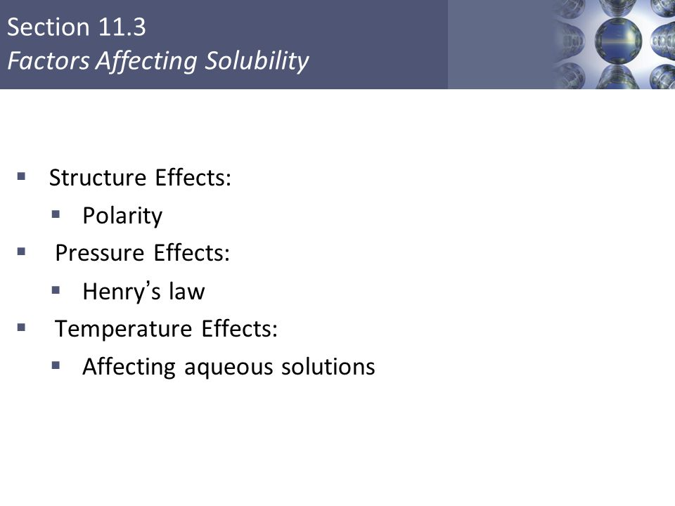 Affecting aqueous solutions