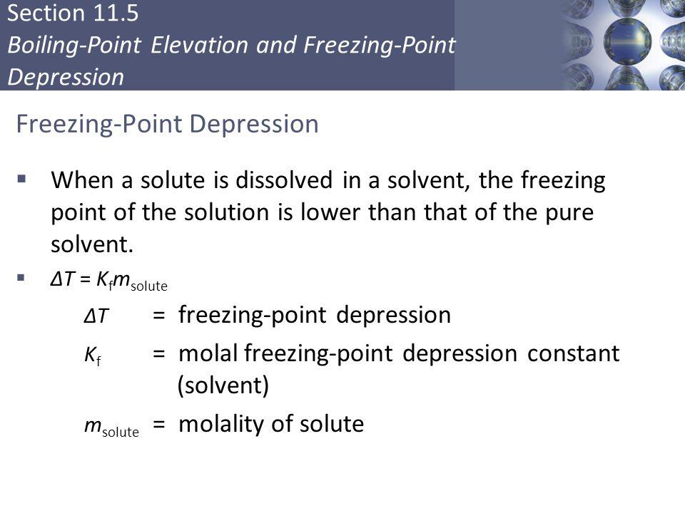 Freezing-Point Depression