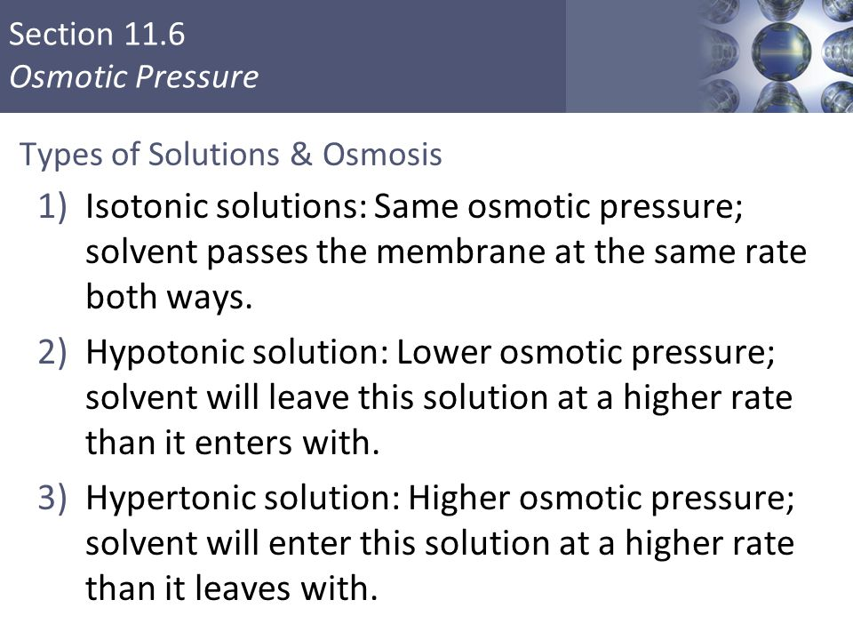 Types of Solutions & Osmosis