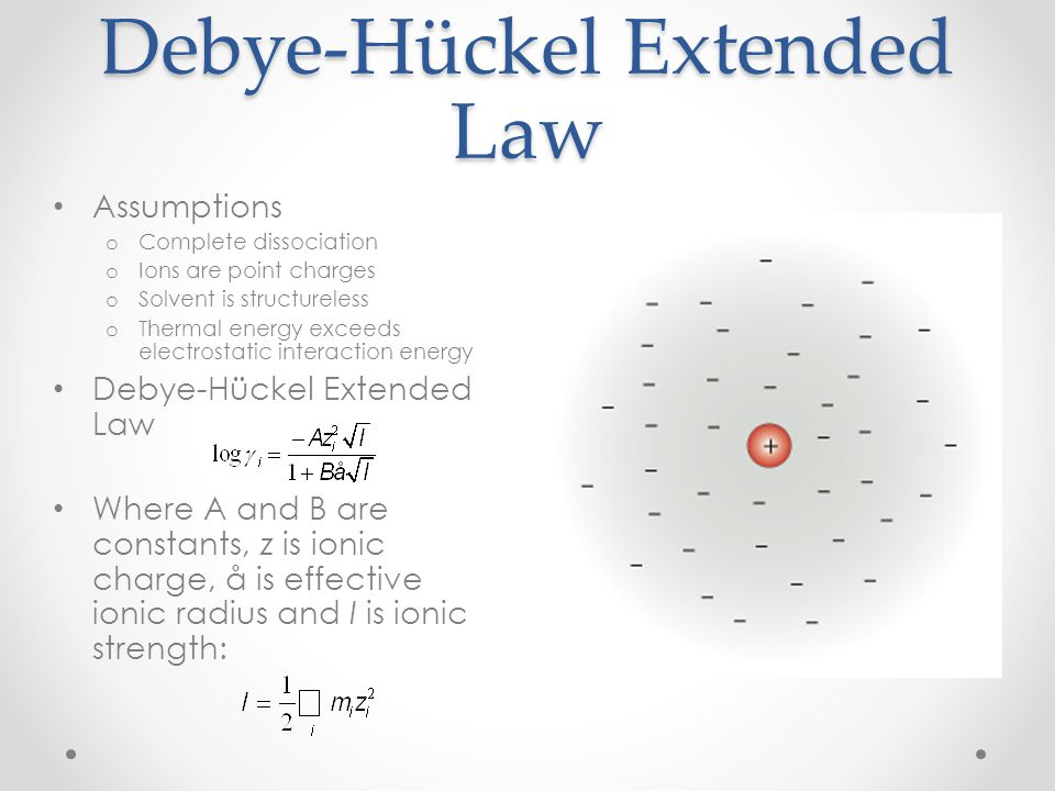 Debye-Hückel Extended Law