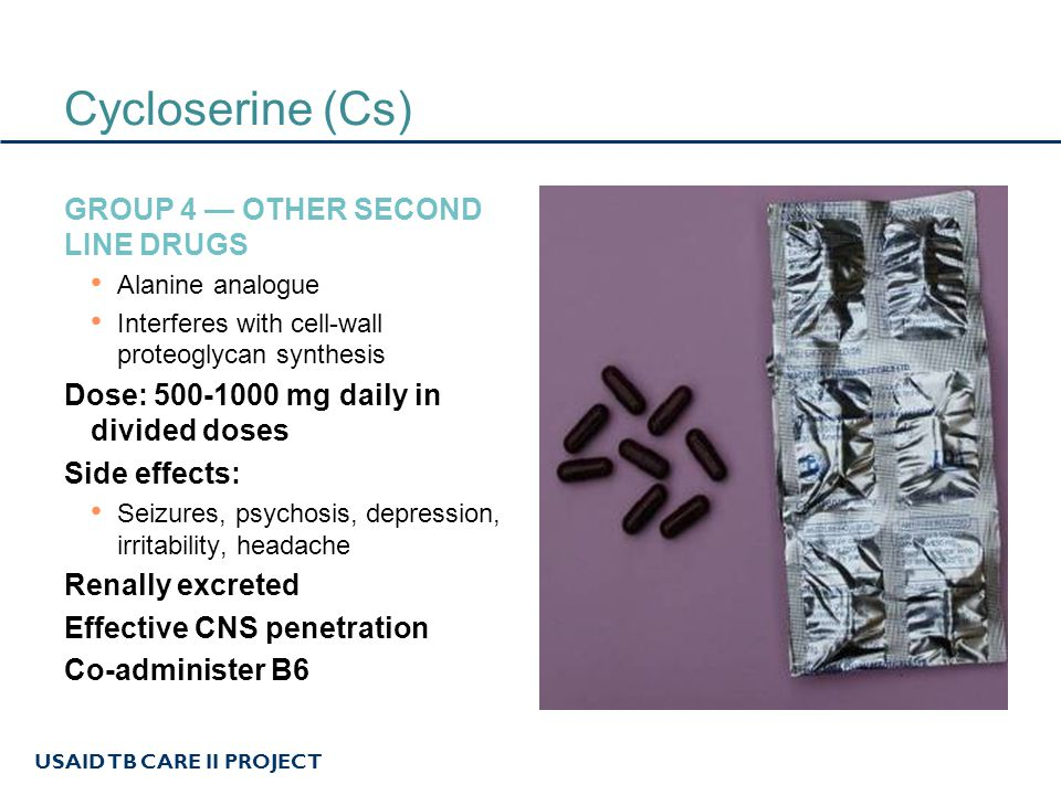 Cycloserine (Cs) Group 4 — Other second line drugs