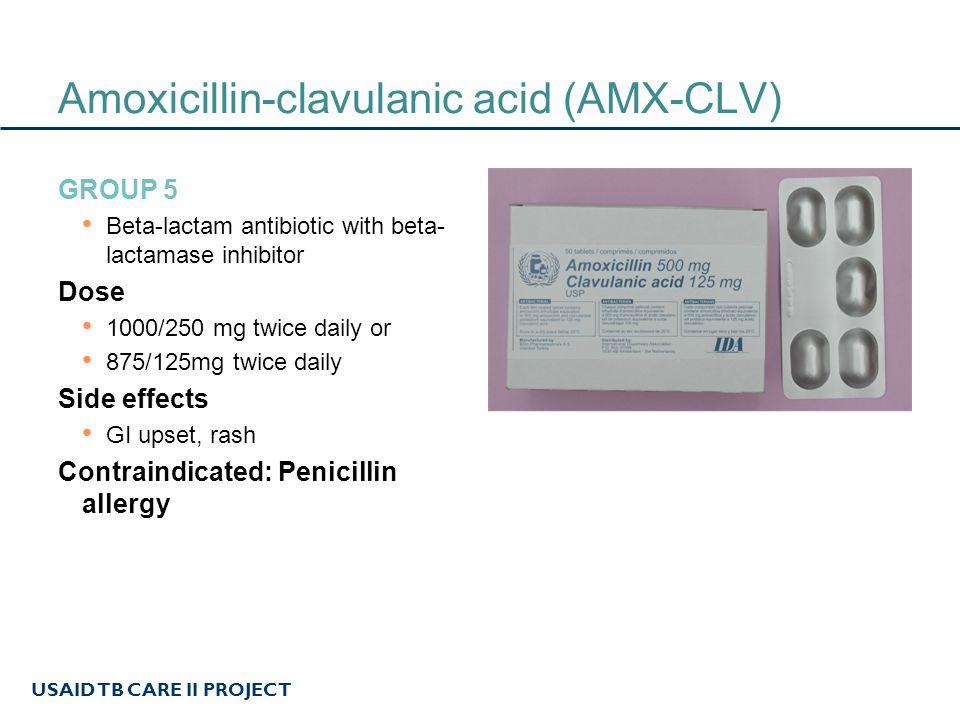 Amoxicillin-clavulanic acid (AMX-CLV)